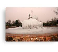~Frozen Fountain~ Canvas Print