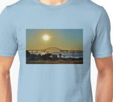 Summer Sunset Over Robert Moses Beach Bridge Unisex T-Shirt