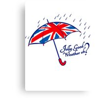 Union jack weather umbrella Canvas Print