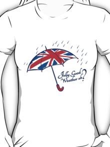 Union jack weather umbrella T-Shirt