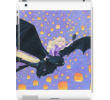 Rapunzel Riding Toothless iPad Case/Skin