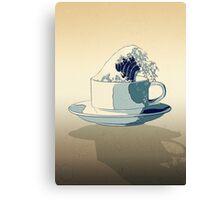 Storm in a Teacup - Tsea-nami! Canvas Print