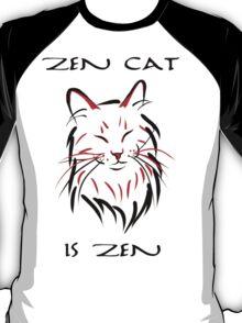 Zen Cat (With Text) T-Shirt