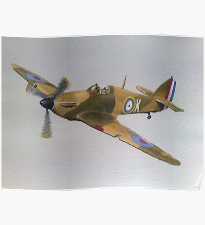Hawker Hurricane - WWII Fighter Plane Poster