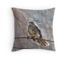 grey Fantail Throw Pillow
