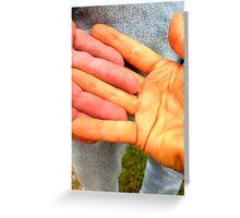 Hands of 2 different colours... Greeting Card