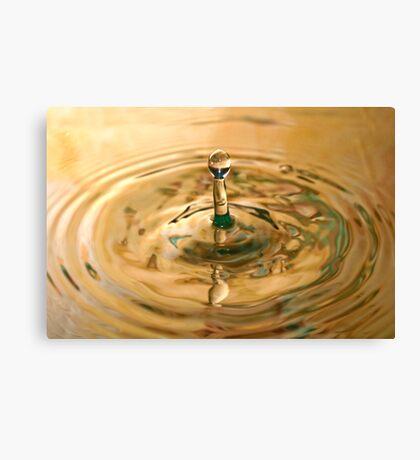 Falling Water Drop Canvas Print