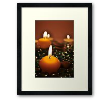 Romantic Candles Framed Print