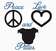 Peace Love and Pitties Kids Clothes