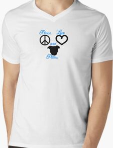Peace Love and Pitties Mens V-Neck T-Shirt