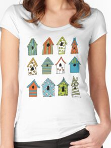 bird houses Women's Fitted Scoop T-Shirt