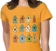 bird houses Womens Fitted T-Shirt