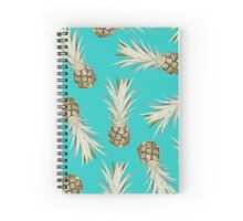 Pineapple Jam - Turquoise Spiral Notebook