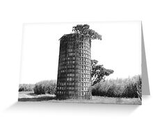 Dimpled Silo Greeting Card