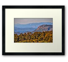 The Land  From Snowy River - Mt Stirling , Australia - The HDR Experience Framed Print