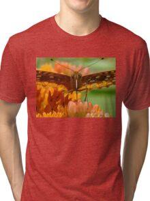 Great Spangled Fritillary Portrait Tri-blend T-Shirt