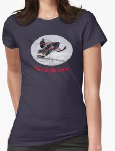 Play In the Snow Womens Fitted T-Shirt