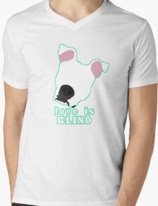 Love is Blind white Mens V-Neck T-Shirt