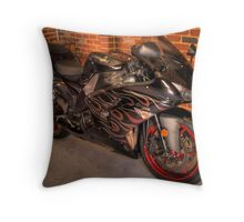 Red Racer #2 Throw Pillow