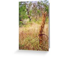 Deserted island - colony ruins Greeting Card