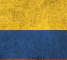 Old and Worn Distressed Vintage Flag of Colombia Sticker
