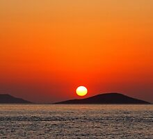 Dodecanese sunset by Tom Gomez