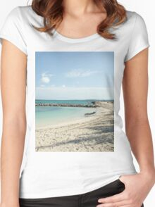 Lonely Beach Women's Fitted Scoop T-Shirt