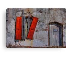 Rusty Shutters Canvas Print