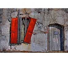 Rusty Shutters Photographic Print