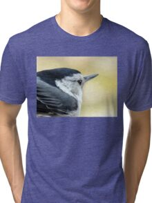 White-breasted Nuthatch (Sitta carolinensis) Tri-blend T-Shirt
