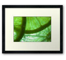 Reve de Citron Vert Framed Print