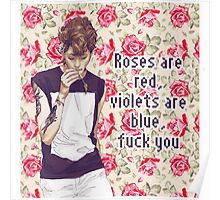 Roses, violets and fucks Poster