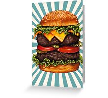 Double Cheeseburger Greeting Card