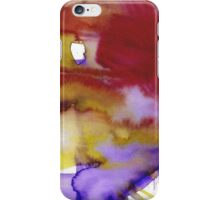 Abstract in red, blue, yellow and purple iPhone Case/Skin