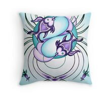 Pisces - Swim from whirlpools and discover oceans! Throw Pillow
