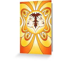 Gemini - Flutter high, flutter bright! Greeting Card