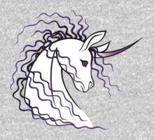 Ki-Rin (Japanese Unicorn) - Purple One Piece - Long Sleeve