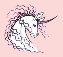 Ki-Rin (Japanese Unicorn) - Purple Kids Tee