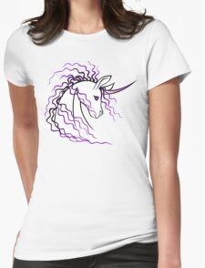 Ki-Rin (Japanese Unicorn) - Purple Womens Fitted T-Shirt