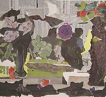 The garden - made of an Italian newspaper by May Hege  Rygel