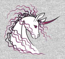 Ki-Rin (Japanese Unicorn) - Pink Kids Tee
