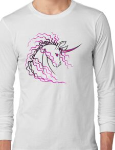 Ki-Rin (Japanese Unicorn) - Pink Long Sleeve T-Shirt