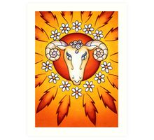 Aries - Let the child in you fire away! Art Print
