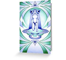 Aquarius - Let your cups fill oceans. Greeting Card