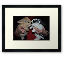 bunny love Framed Print