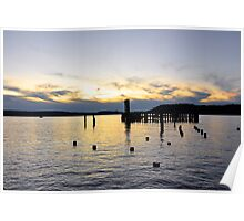 West Tacoma Waterfront Sunset Poster
