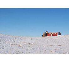 Northern Michigan Field In Winter Photographic Print