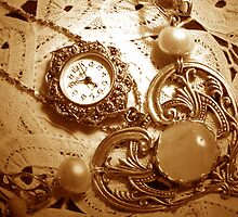 """A Vintage Timepiece In Sepia"" by franticflagwave"