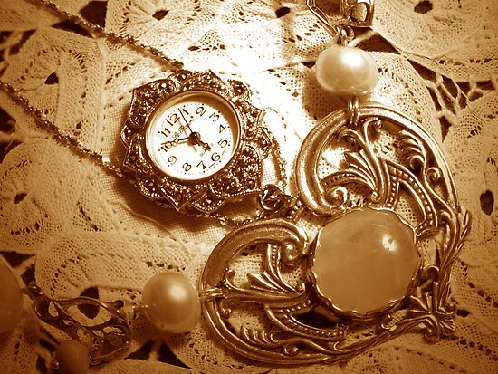 """""""A Vintage Timepiece In Sepia"""" by franticflagwave"""