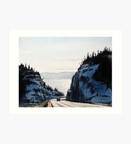 The Road to Nipigon Art Print